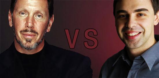 甲骨文CEO拉里·埃里森 vs. 谷歌CEO拉里·佩吉