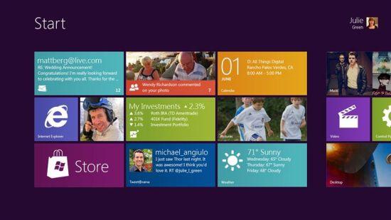 Windows 8的Metro界面