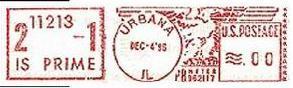 伊利诺伊大学数学系盖的邮戳