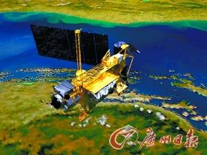 UARS坠入地球的模拟图。