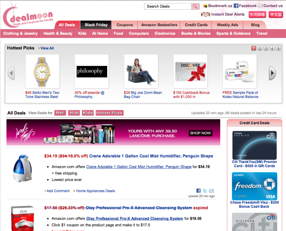 Photo: Silicon Valley business story: Dealmoon love microblogging then open up the market discount