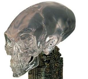 其中一具遗骸的头部与2008年《印第安纳琼斯:水晶骷髅王国》影片中的三角形水晶头骨十分相似
