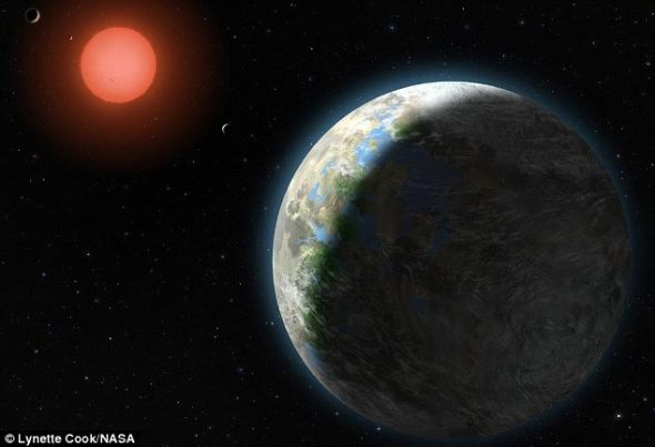 示意图:这颗系外行星上可能存在液态水