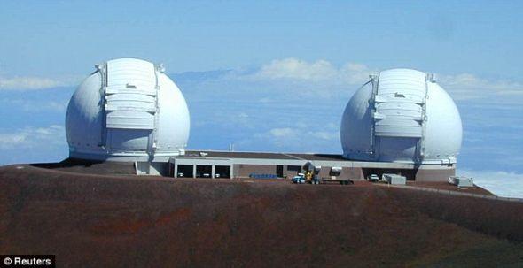 夏威夷的凯克望远镜