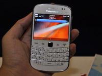 白色黑莓9900