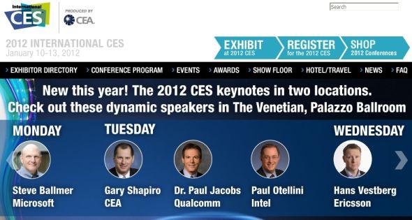 CES 2012将于北京时间1月11日1:00正式开幕