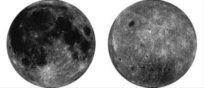 全月球正射投影图