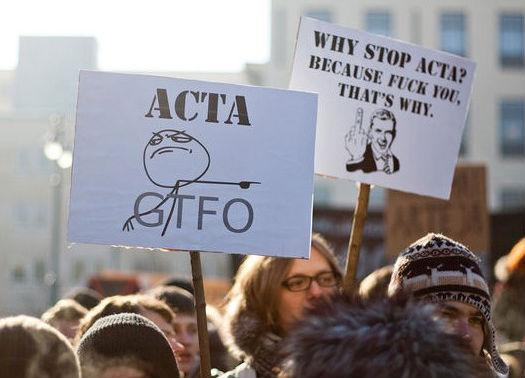 ACTA遭遇欧洲民众的激烈反对