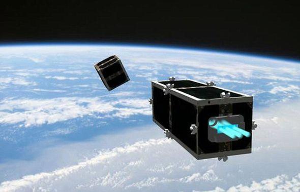 本周公布的一幅图片,展示了CleanSpace One卫星靠近废弃的立方体卫星的景象