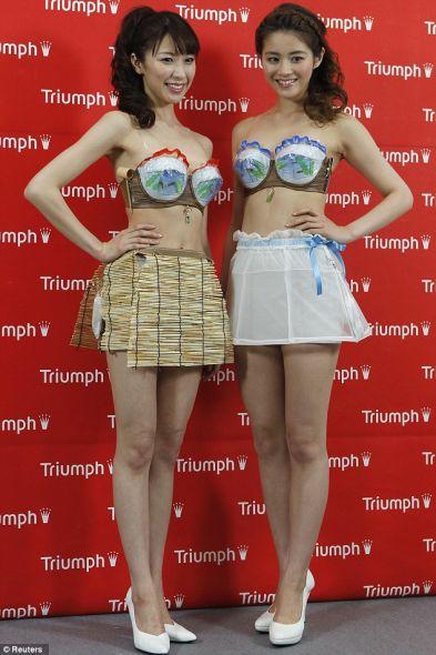 黛安芬在东京发布的Super Cool Bra(超凉胸罩)