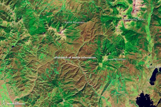 美国陆地卫星5号(Landsat 5)摄于2011年9月28日