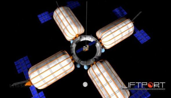 该系统最终将能通过缆绳,把人类从地球带上月球