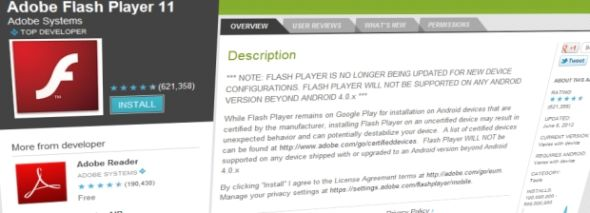 BBC Adobe Flash Player在Android上复活