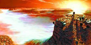 美国航空航天局描绘的火星登陆美景。CFP供图