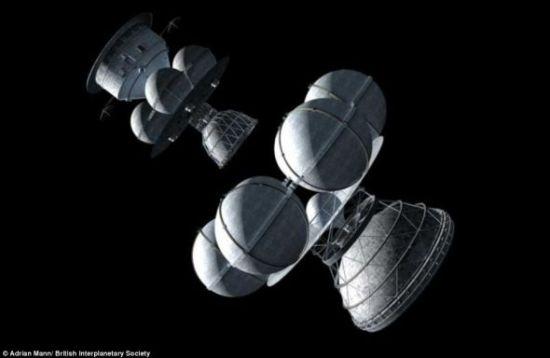 20世纪70年代设计的恒星际宇宙飞船,科学家认为两级设计是最佳方案。