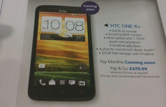 HTC发布One X+:CPU更快 电池容量更大