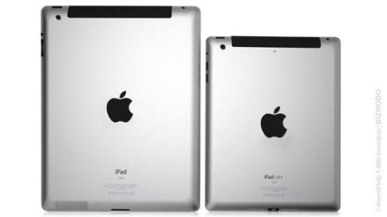 此前媒体报道中的iPad mini假想图,左侧为new iPad,右侧为iPad mini