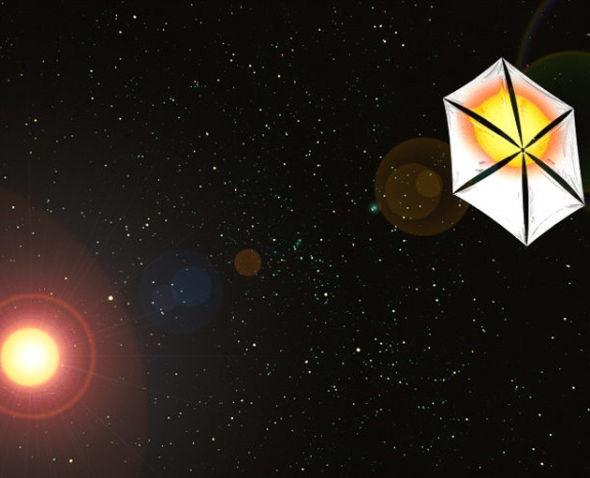 借助光压推进的太阳帆飞船,其技术本质和使用微波能量束推进的方式是相似的