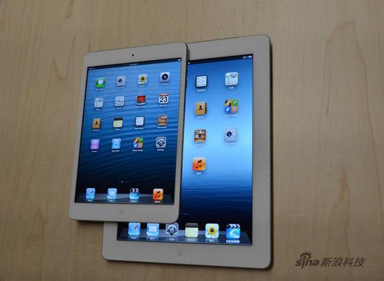 和新iPad正面对比