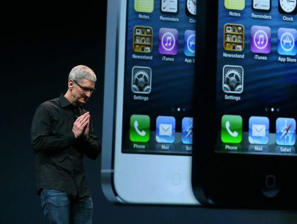 库克表示,苹果将于12月在中国内地市场上发布iPhone 5