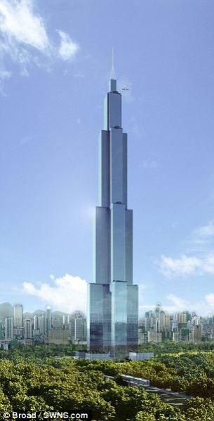 """""""天空城市""""可容纳1.74万居民,将建有酒店、医院、学校和办公室,安装104部高速电梯"""