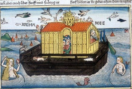 1493年在纽伦堡印制的插图版《圣经》中的诺亚方舟