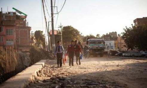 2012年11月21日公布的这张照片显示,喜马拉雅山脉有可能会发生与1255年袭击加德满都,导致加德满都谷地三分之一的人口丧生,并夺去该国君主阿巴亚-马拉王生命的那场大地震级别一样的地震