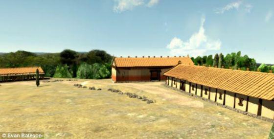 艺术概念图,展示了古罗马的建筑
