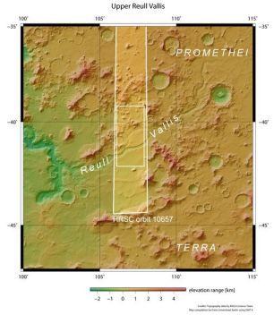 """利用""""火星快车""""对鲁尔谷观测时获取的数据绘制的图像"""
