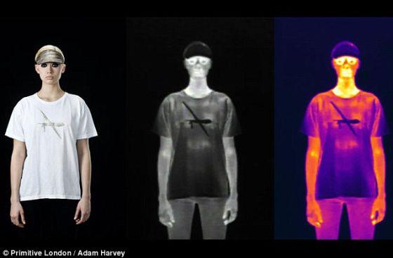 哈维还创作过一款能够阻断心跳追踪的T恤