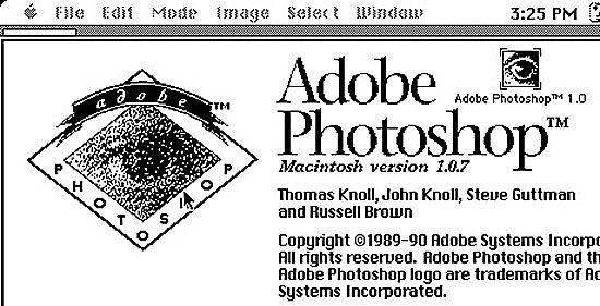 Adobe周四公布了1990年推出的第一版Photoshop软件源代码。