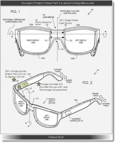新一代谷歌眼镜将采用双目显示技术