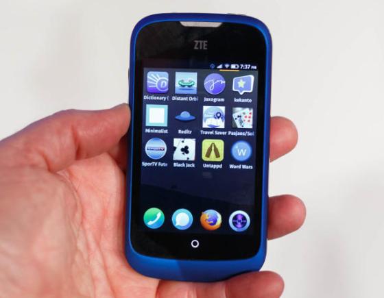 首款Firefox OS手机中兴Open