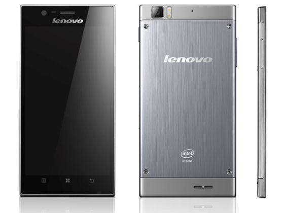 联想搭载英特尔双核处理器的的智能手机K900