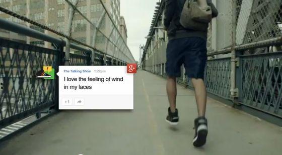 """""""会说话的鞋子""""能够感受用户的运动状态,并转化为语音信息"""