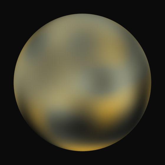 这张照片同样由哈勃空间望远镜拍摄,可能是目前我们获得的质量最好的冥王星图像,可以明显看到冥王星地表存在颜色的差异,我们目前还不能确定这究竟是什么原因造成的。而当2015年夏天美国宇航局的新地平线号探测器抵达冥王星附近之后,科学家们或将最终揭开冥王星的诸多谜团