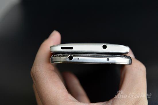 手机顶部对比