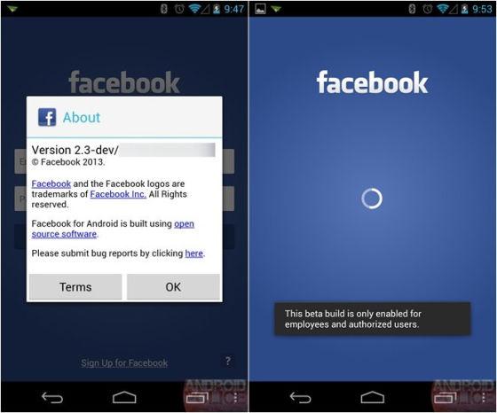 曝光的Facebook手机截图