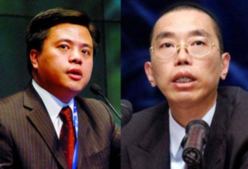 陈天桥(左)与史玉柱