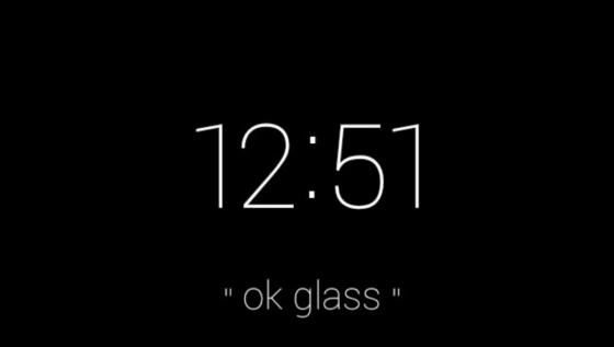 谷歌眼镜的待机界面