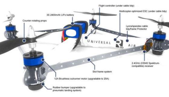 R10无人机与一个DIY工具包一同发售。下一个版本可自动追踪用户并拍摄视频,将于2014年初上市,主要面向极限运动市场