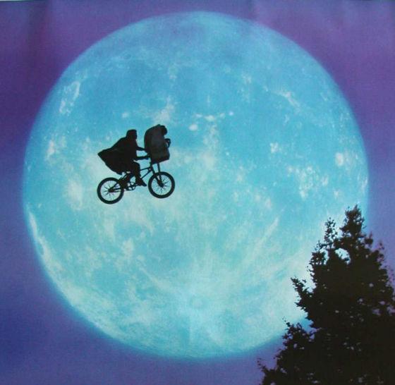 ET里的飞行自行车-极具科幻色彩 结合了四轴飞行器的自行车