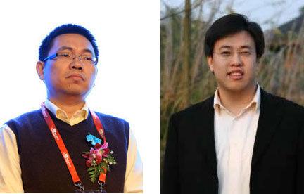 顾晓斌(左)和陈大年