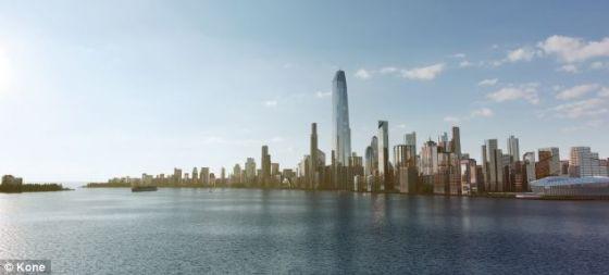 电梯技术的进步能够让世界各地的地平线发生根本性变化。目前,全球在建的高度650英尺(约合200米)以上的摩天楼接近600座。如果采用超坚固的碳纤维绳索,摩天楼还会继续长个儿