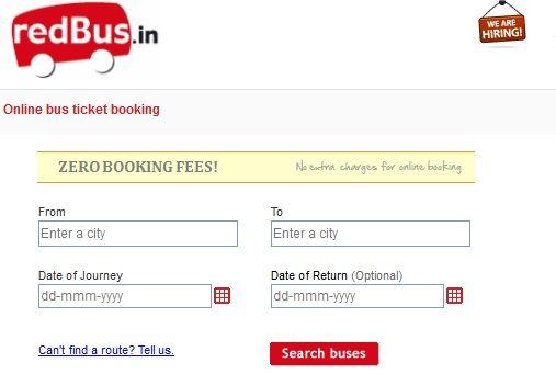 在线巴士票务服务redBus