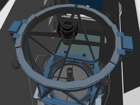 相机安装在天文望远镜时的样子(CG 绘图)