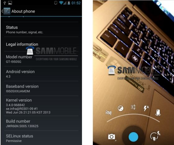 三星Galaxy S4新系统Android 4.3截图曝光