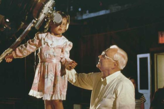 弗兰克·德雷克和一个小天文爱好者在利克天文台