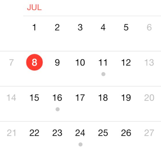 月历事件增加灰点提示
