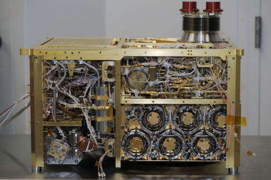 """""""火星样品分析仪""""(SAM)设备照片。该设备进行了首次火星大气成分详细分析"""